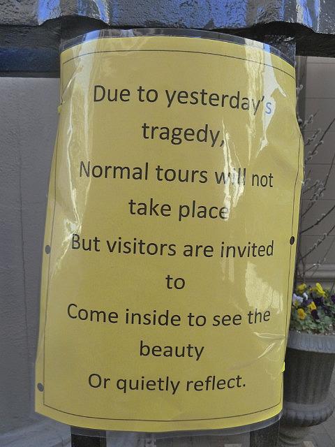 Reminder of the Boston Bombing
