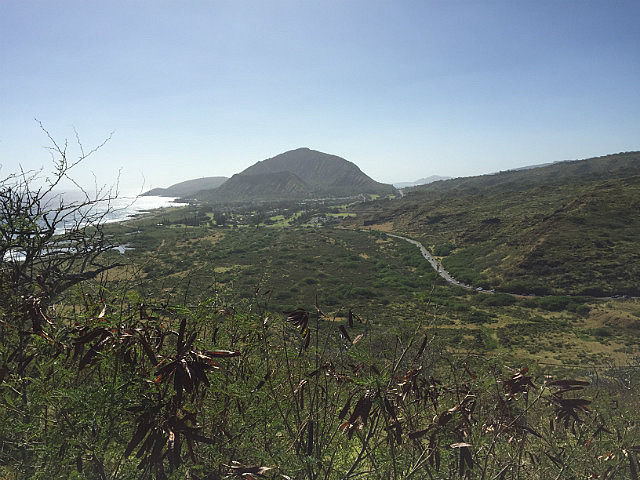 Looking south to Koko Crater