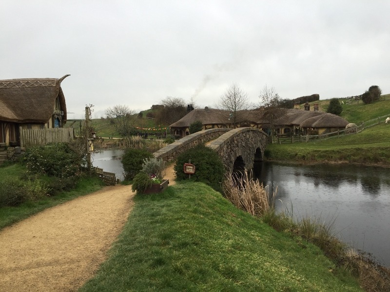 Bridge to the Inn and tavern
