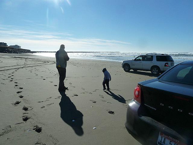 Brad & Benaiah at Ocean Shores