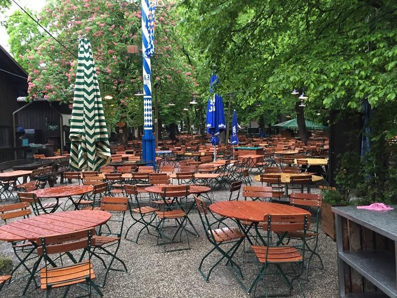 Leafy beer garden
