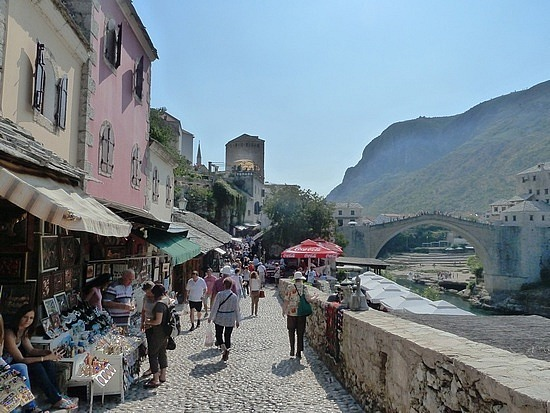 East bank of Mostar