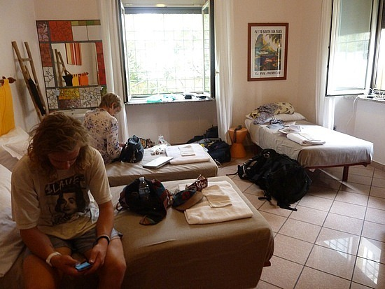 Our lovely room at the Beehive Hostel