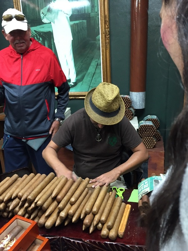 Cigars being hand rolled