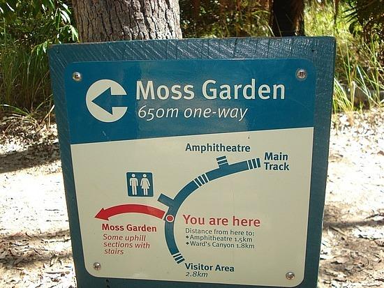 Turn off to Moss Garden