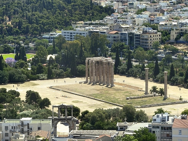 View to Temple of Zeus