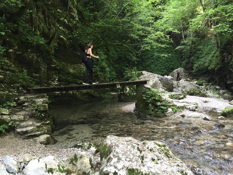 Magical waterfall gorge