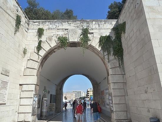 Entrances through city walls