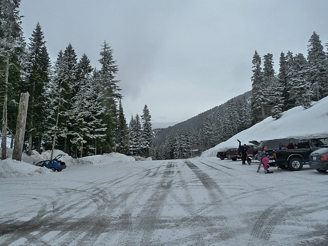 Car Park at Stevens Pass