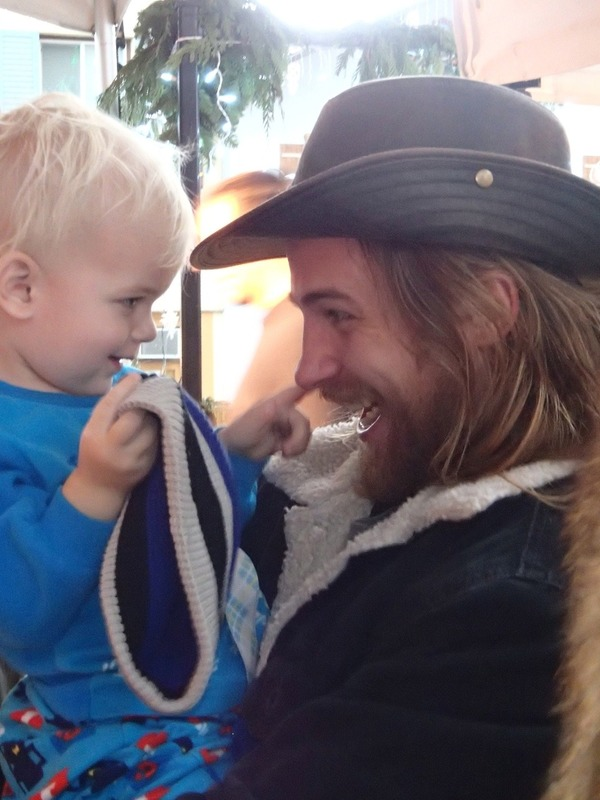 Uncle Nick and Ezra bonding