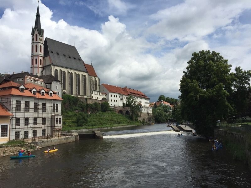 River and church