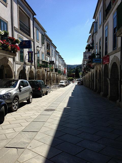Covered walkways of the buildings