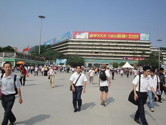 Going towards garment shopping area