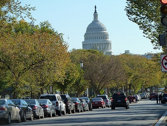 Capitol with the fall trees