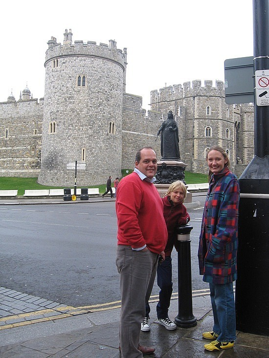 Outside Windsor Castle