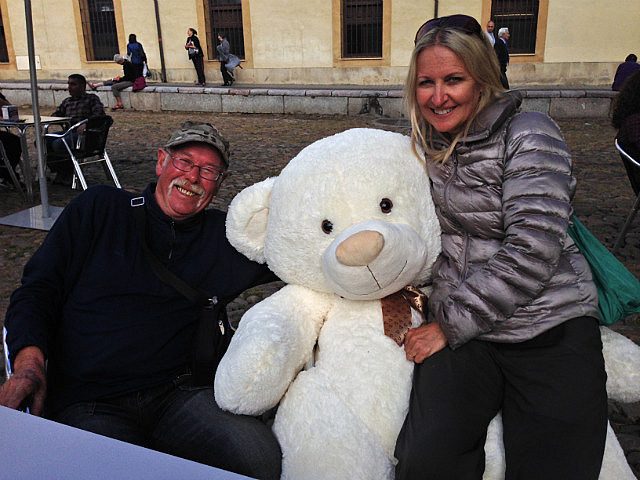 With roy the bear