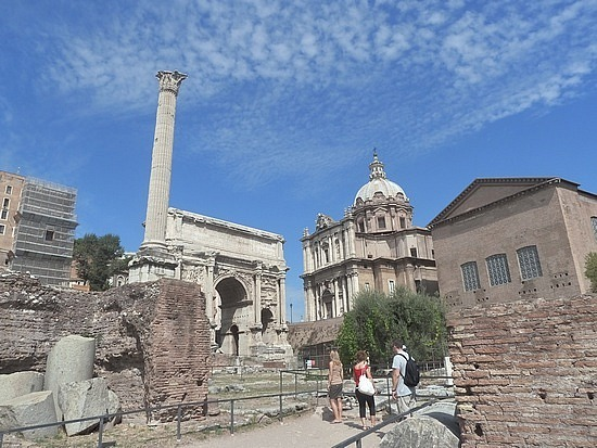 Looking up to Capitoline Hill