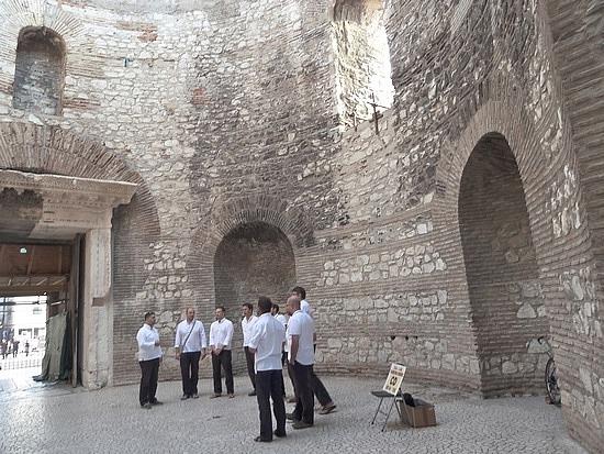 Singers in Vestibule
