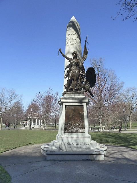 Statues & blue skies in Boston Common