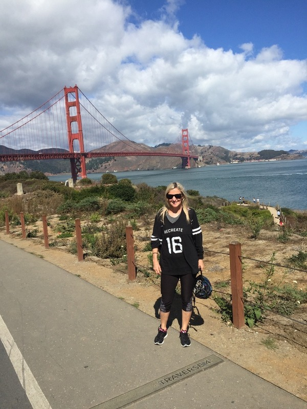 In front of the Golden Gate Bridge
