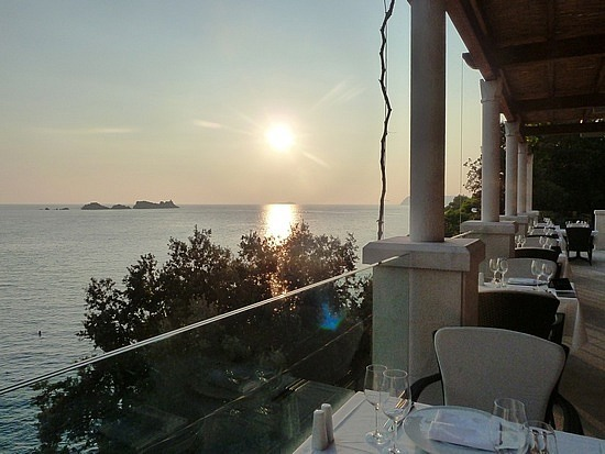 Sunset from cafe