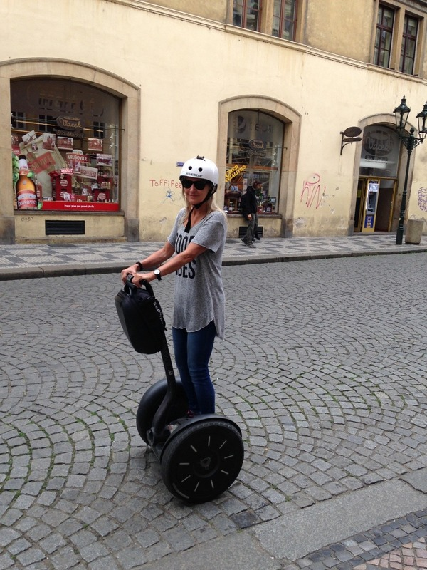 Practising on the segway