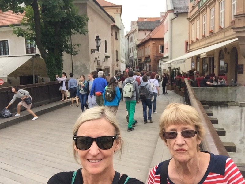 Town behind us