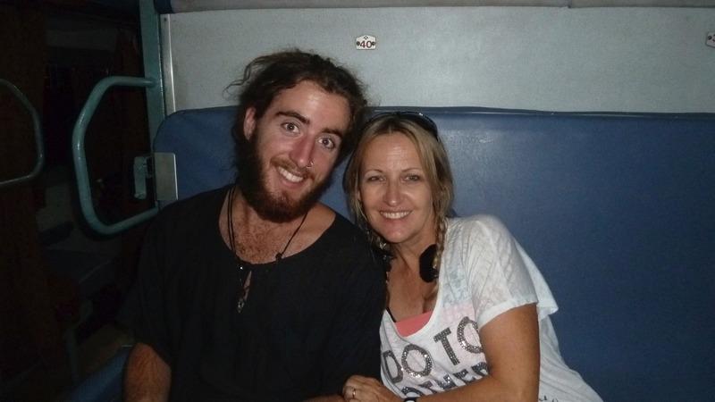On the train with nephew Mitch