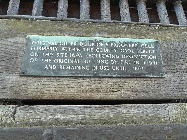 Prison door sign