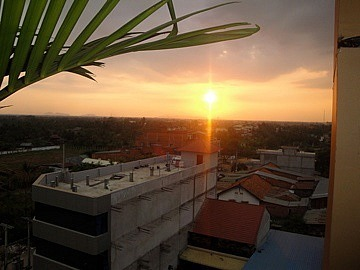 Sunset from the guesthouse