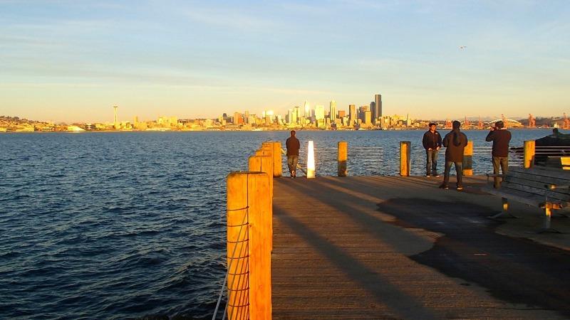 City views from Alki Beach