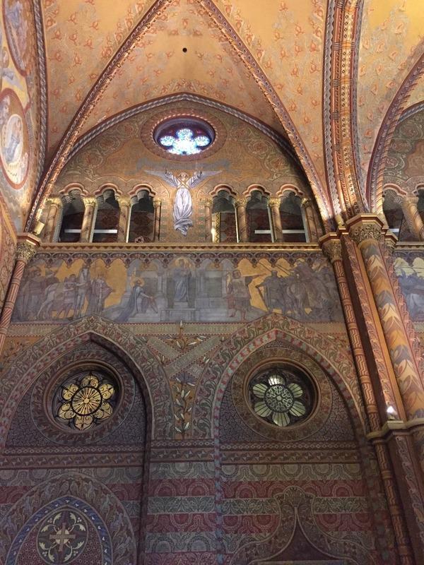 Murals inside St Mattias