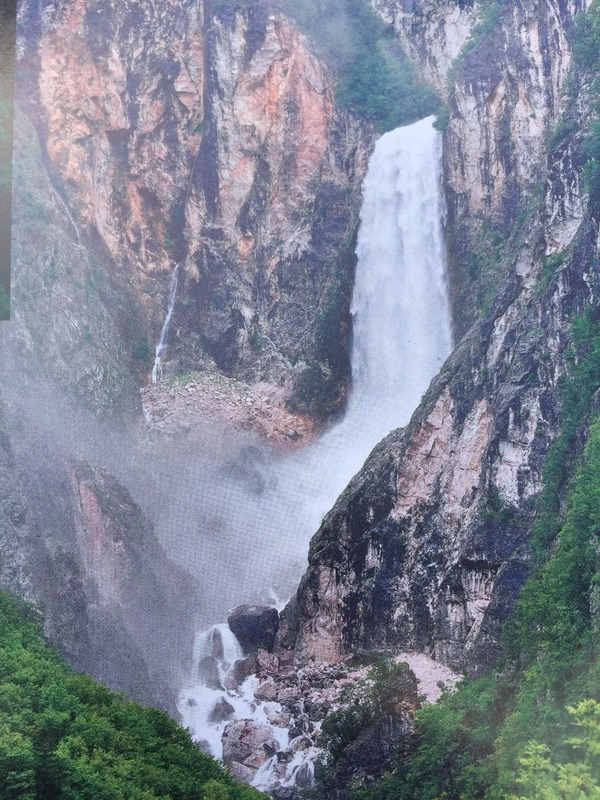 The 100  metre waterfall we drove past