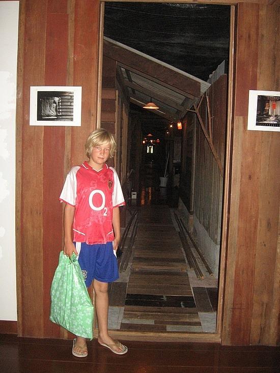 Corridor inside hostel