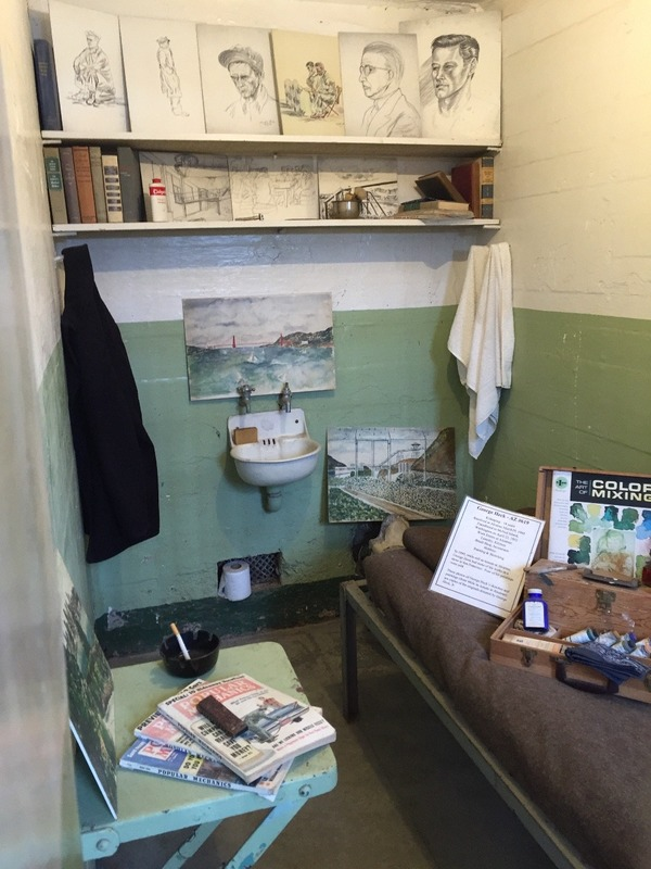 Cell of an inmate who loved art