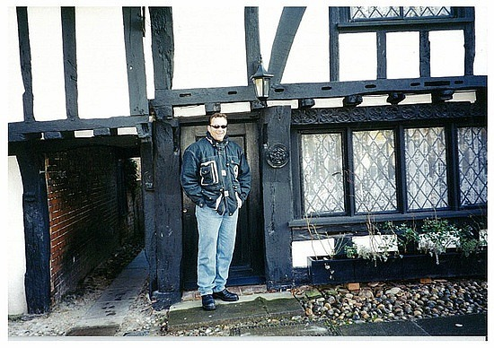 Brad by low doorways in Rye