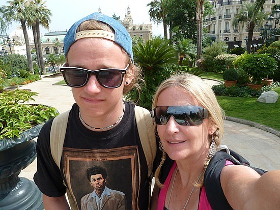 Nath and i in Monaco