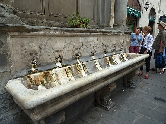 Public drinking fountains