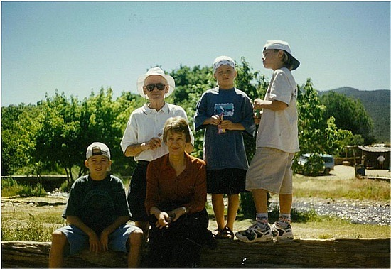 Grandma & Grandfather with Adam, Michael & Nick