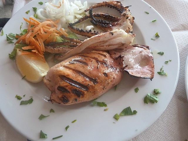 Leighs squid dinner