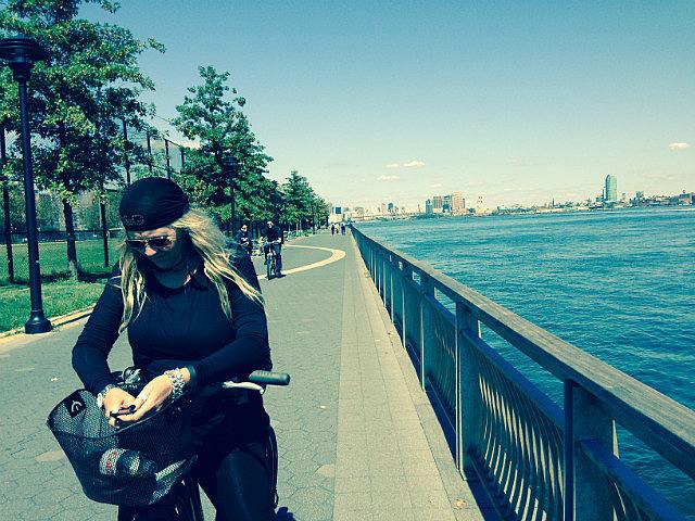 Leigh along the Hudson River