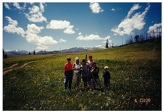 Beautiful meadow in Bighorn Nat Park