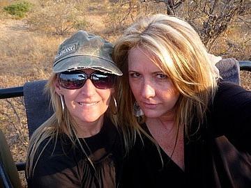 Leigh & I  on safari