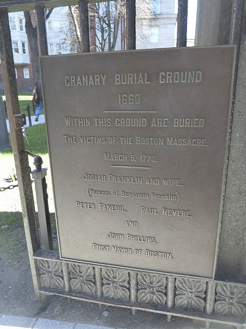 Sign on Burial Ground gate