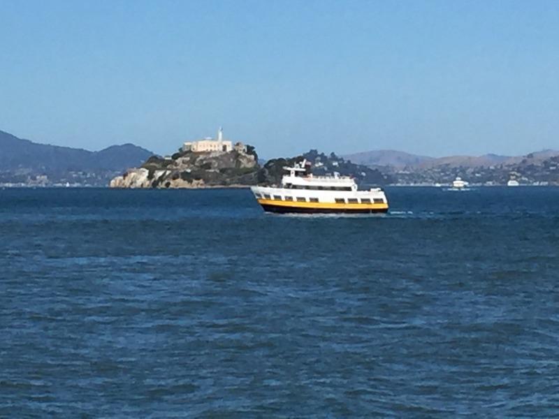 Heading to Alcatraz Island