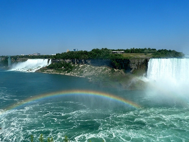 Falls & rainbow