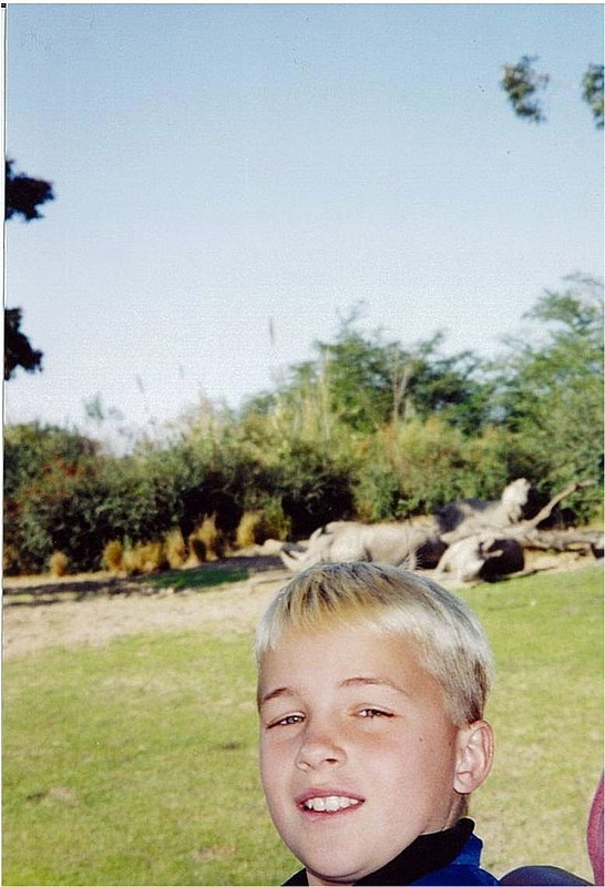 Nick on safari