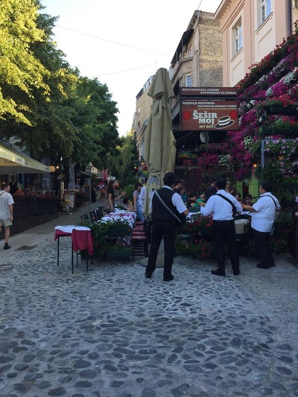 Musicians in Bohemian street