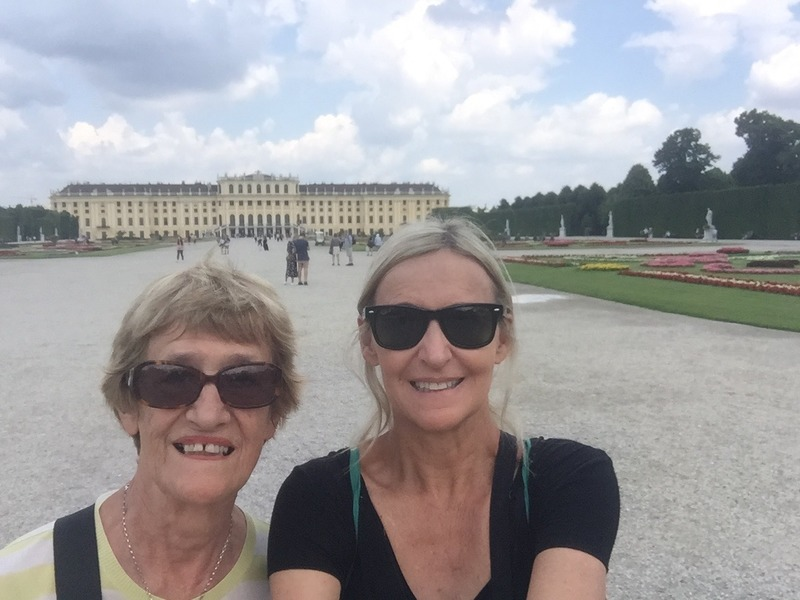 Mum and I and back of the palace