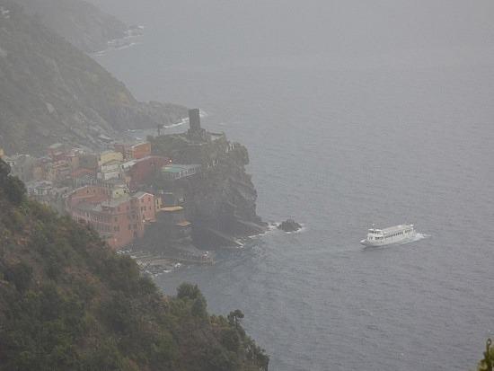 Rain coming in over Venazza